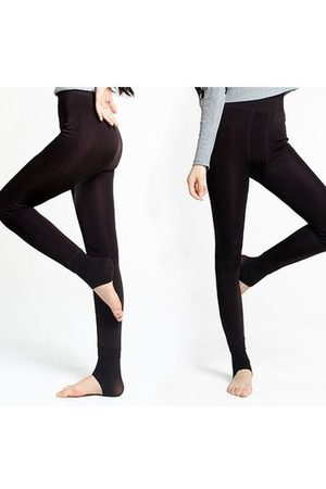 Newchic Women Winter Thick Thermal Fleece Lined Stretchy Leggings Pants Elastic Pantyhose