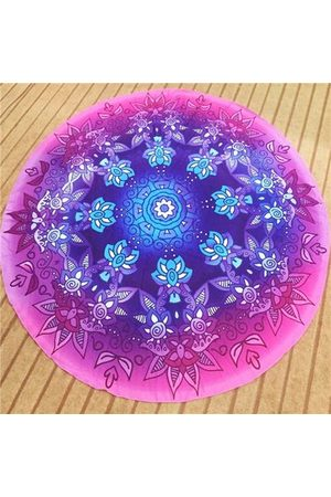 Newchic Women Sports Accessories - Gradient Flower Round Beach Towel Cotton Scarf Shawl Yoga Mat Tapestry Wall Hanging