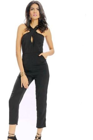 Newchic Women Jumpsuits - Women Casual Halter Collar Backless Hollow High Waist Jumpsuit
