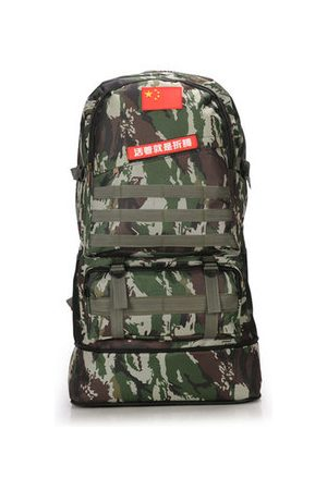 Newchic Men Travel Bag Oxford Backpack Climbing Bag Camouflage Portable
