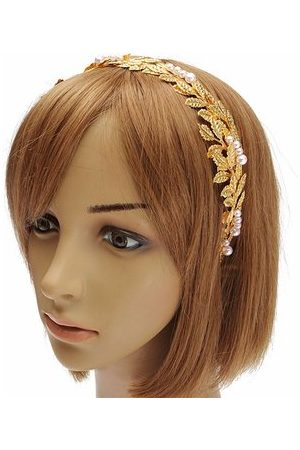 Newchic Women Retro Style Golden Leaves Headband Hairwear