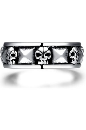 Newchic Men's Vintage Punk Skull Head Stainless Steel Ring