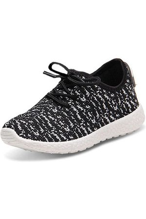 Newchic Boys Stripe Sport Breathable Sneakers Lace Up Running Shoes