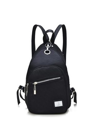 Newchic Women Rucksacks - Women Men Nylon Sport Leisure Black Chest Bag Shoulder Bags Backpack