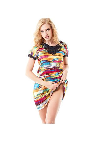 Newchic Women Short Sleeve - Sexy Satin Short Sleeve Nightdress