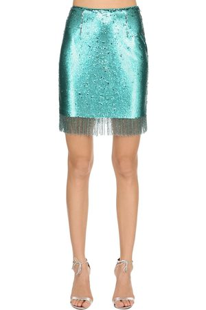 VIVETTA Sequined Mini Skirt W/ Fringe