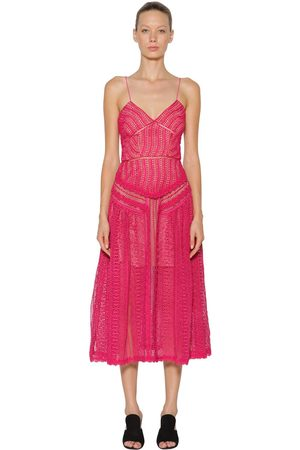 Self-Portrait Spiral Lace Panel Dress