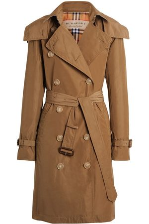 Burberry Women Trench Coats - Detachable Hood Taffeta Trench Coat
