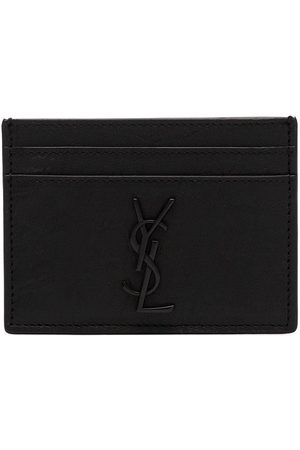 Saint Laurent Monogram logo plaque cardholder