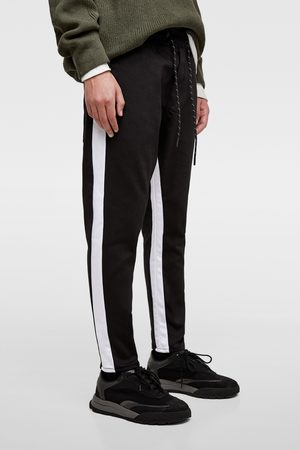 Zara SOFT DENIM JOGGING TROUSERS