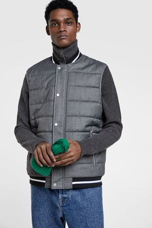 Zara PUFFER GILET WITH RIBBED TRIMS