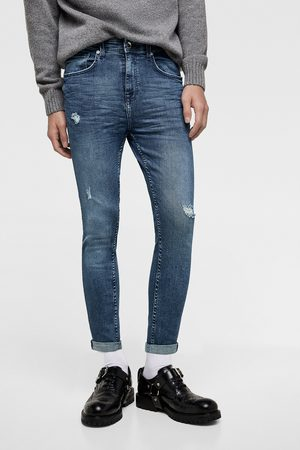 Zara Ripped carrot fit skinny jeans