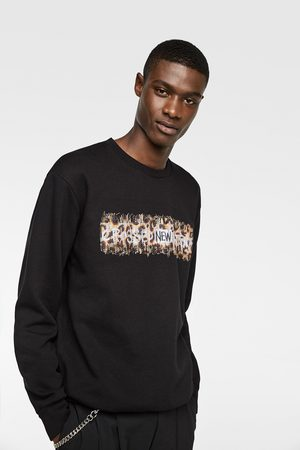 Zara SWEATSHIRT WITH CONTRAST EMBROIDERY