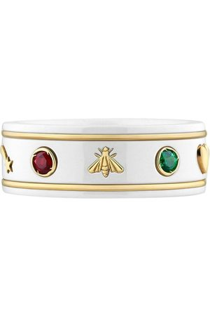 Gucci 18kt yellow gold Icon gemstone ring