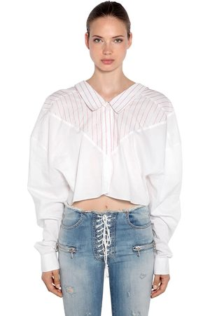 UNRAVEL Oversized Striped Cotton Shirt