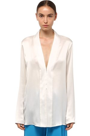 Haider Ackermann Satin V Neck Shirt