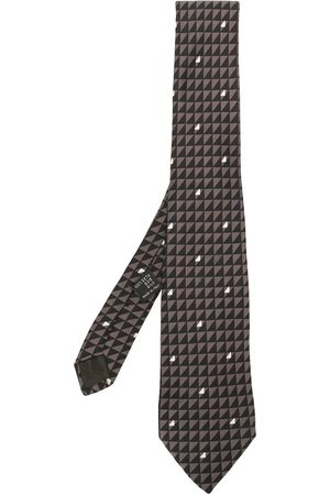 VERSACE Patterned silk tie