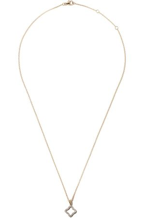 David Yurman 18kt yellow gold Cable Collectibles Quatrefoil diamond pendant necklace