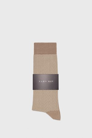 Zara MERCERISED HERRINGBONE SOCKS