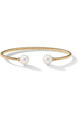 David Yurman 18kt yellow gold Solari pearl cuff bracelet