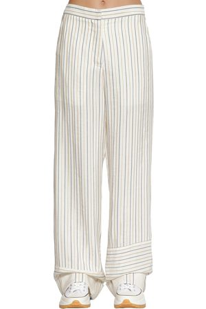 J.W.Anderson Striped Cotton Blend Pants