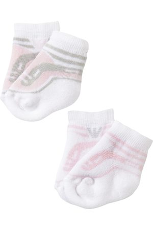 Armani Girls Socks - 2 Pairs Of Cotton Knit Socks