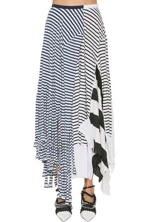 Loewe Striped Cotton Blend Jersey Skirt