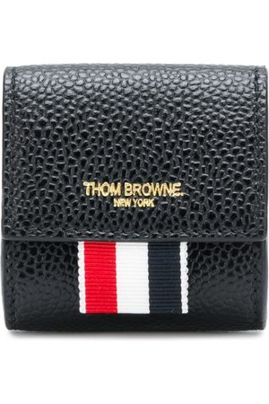 Thom Browne Small logo-stamp coin case