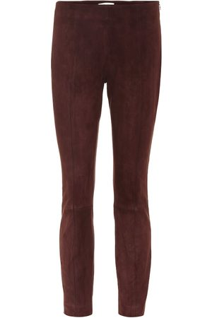 The Row Suede skinny pants