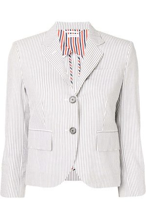 Thom Browne Half-Lined Seersucker Sport Coat