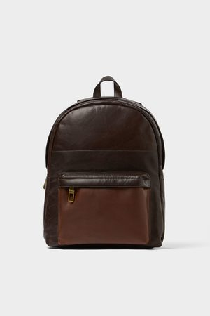 Zara Men Rucksacks - Brown backpack