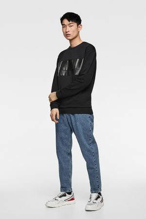 Zara Sweatshirt with faux leather panels