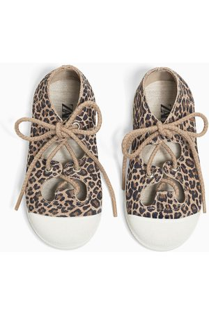Zara Kids Casual Shoes - Leopard print leather plimsolls