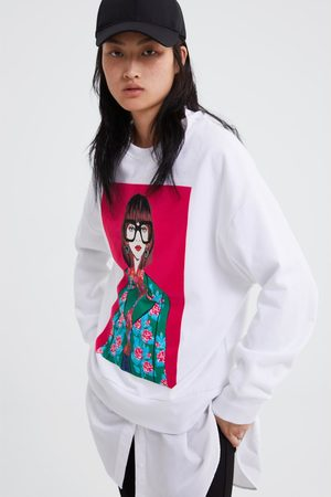 Zara Woman print sweatshirt