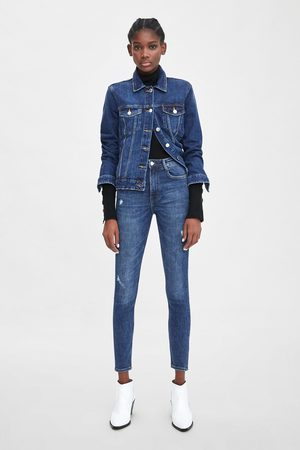 Zara Ripped vintage hi-rise jeggings