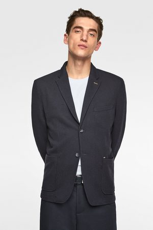 Zara Men Blazers - Textured mixed knit blazer