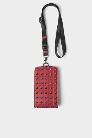 Zara Men Phone Cases - Studded mobile phone carrying case