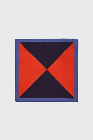 Zara Triangle-design pocket square