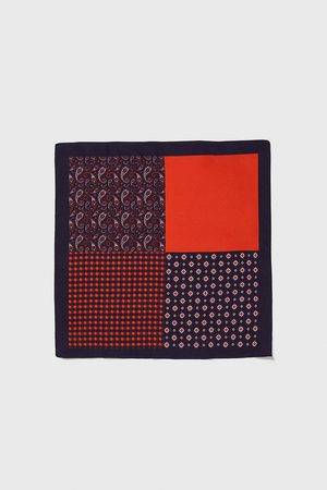 Zara Men Pocket Squares - Contrast pocket square