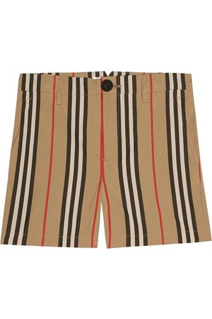 Burberry Girls Shorts - Icon Stripe cotton shorts
