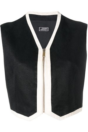 VERSACE 1990's cropped zipped vest