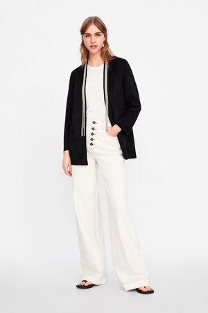 Zara Faux suede blazer with beads