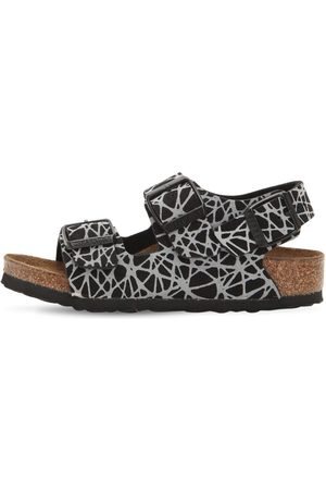 BIRKENSTOCK Girls Sandals - Reflective Faux Leather Sandals