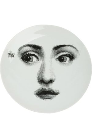 FORNASETTI Portrait and fly print plate