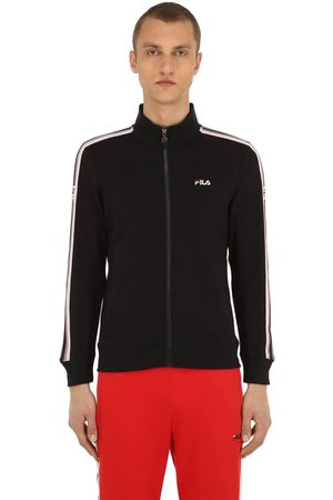 Fila Logo Zip-up Cotton Blend Knit Sweatshirt