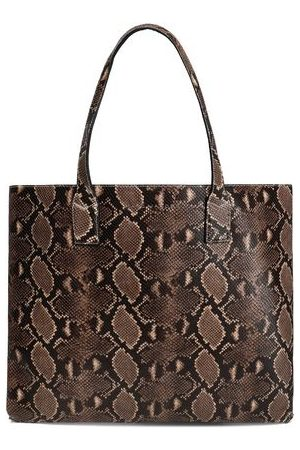 Marc Jacobs Woman Snake-effect Leather Tote Animal Print Size