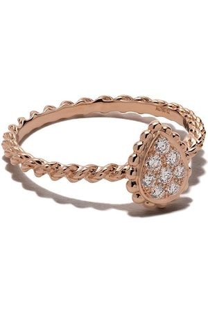 Boucheron 18kt rose gold Diamond Serpent Bohème XS ring