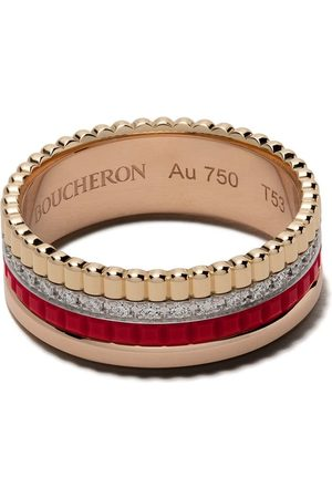 Boucheron 18kt gold Quatre Red diamond ring