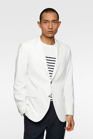 Zara Men Blazers - Textured blazer with button details