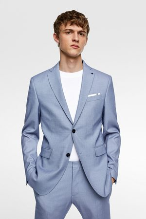 Zara Bird's-eye suit blazer